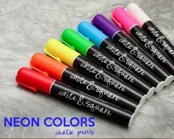 6mm Reversible Tip Wet Erase Chalk Pens Neon Or Earth Tones Etsy