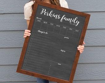 18x24 Weekly Dry Erase Calendar | Chalkboard Calendar | #18124