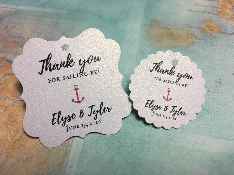 anchor favor tags, beach themed wedding, nautical shower, nautical ...