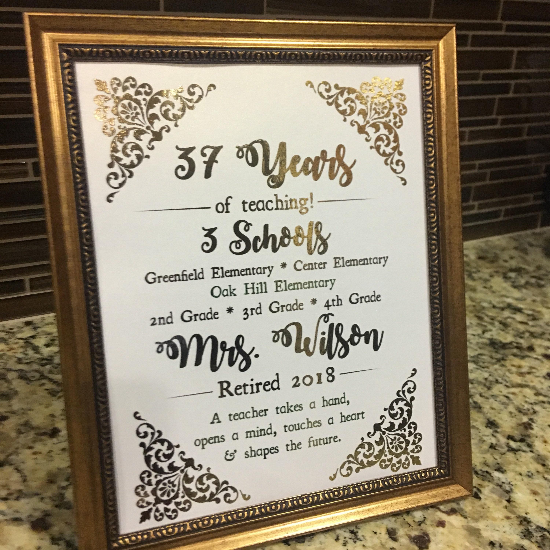 custom print burlap print personalized retirement gifts gift for retirement canvas print Teacher retirement gift