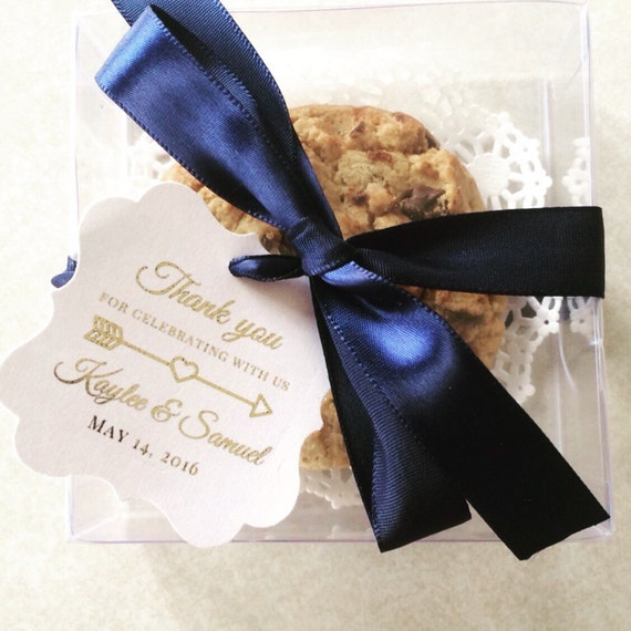 Thank You Wedding Favor Tags Personalized Gift Tags Thank Etsy