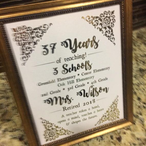Teacher Retirement Teacher Gift Printed Sign Digital Diy Sign Retirement Sign Retirement Party Decor