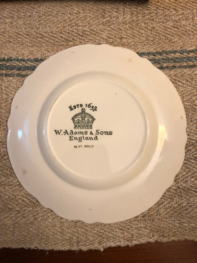 made in England by W Vintage Souvenir of Ottawa Canada Small Plate Adams and Sons