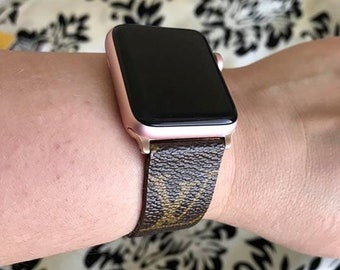 b94b77641ef5 LIMITED Apple Watch Band Series 1 2 3 4 - 146mm to 190mm - Repurposed and  Handmade