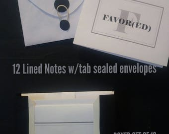 FAVOR(ED) Note Cards