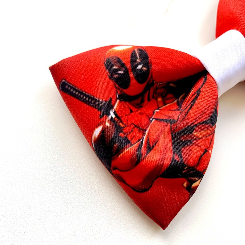 Deadpool Bow Tie Wedding Necktie Comics Bow Ties Papillon