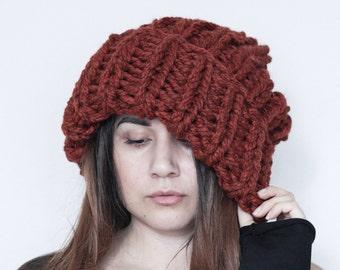 Mega chunky slouchy beanie. Slouchy hat. Thick chunky beanie. Warm beanie.  Knitted beanie. Head accessory. fd08511797e