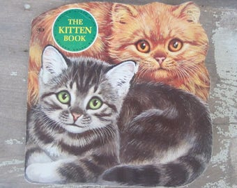 Vintage Golden Shape Book The Kitten Book Golden Press 1968