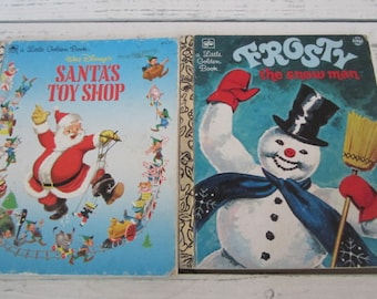 Two Vintage Golden Books Christmas Golden Books Frosty The Snowman And Santa's Toy Shop