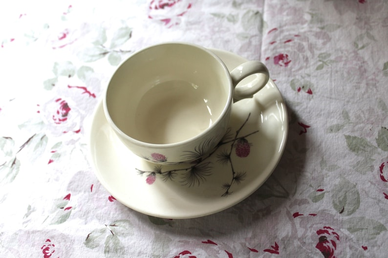 Vintage Allegheny Ware Wild Clover Cup And Saucer Set Tea Cup