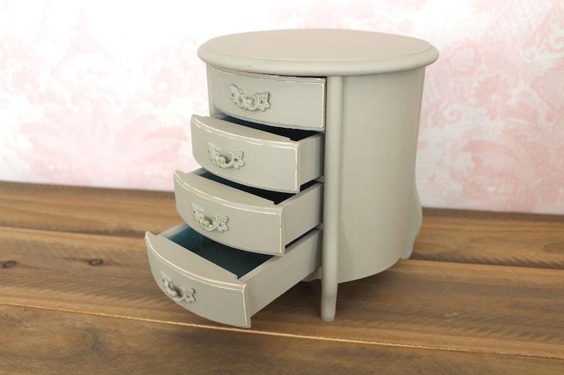 Repurposed Repainted Old Jewelry Box Gray Painted Shabby Chippy Jewelry Box Repurpose Renew Reuse