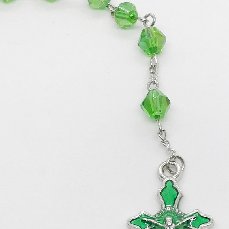 L20 8 inches long Green Turtle Pocket Rosary