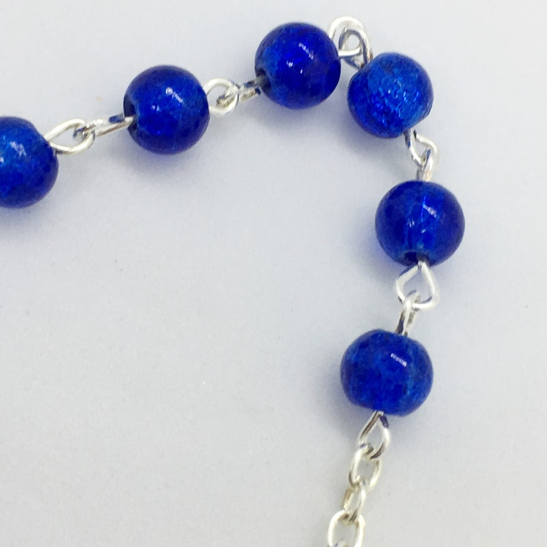 S31 5 inches long Blue Butterfly Pocket Rosary