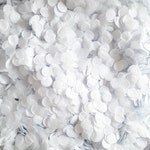 Biodegradable Wedding Confetti | Pure White Confetti Circles Perfect for Classic White Wedding Winter Wedding Bulk Confetti up to 100 guests