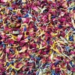 Dried Rose Petal Confetti |Red with hints of Yellow, Blue & Lavender | Biodegradable Autumn Petals for Autumn Weddings | Bulk Confetti