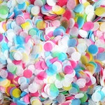 Biodegradable Confetti - Sky Blue, Green, Yellow, Fuschia & White Bright Rainbow Wedding Mix - Bulk confetti