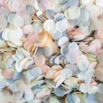 Biodegradable Wedding Confetti - Soft Peach, Grey & Ivory Wedding Circles - Bulk Confetti 10-100 handfuls, Vintage Style Throwing Confetti