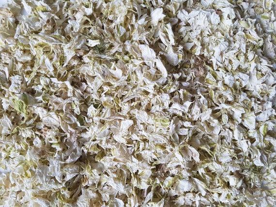 Confeti Boda Marfil Gris Pétalo biodegradables Paquete Bolsa de pétalos secos Real