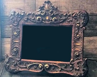 Primitive Scrying Mirror, Art Nouveau Victorian Mirror,Peeping Gazing Seeing Psychic,Divination Occult Witchcraft Witch Clairvoyant Tool