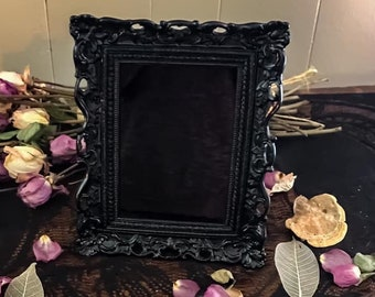 Gothic Scrying Mirror, 2 sizes, Gorgeous Victorian Scroll Design Mirror, Psychic Divination Mirror, Occult Witchcraft Clairvoyant Tool