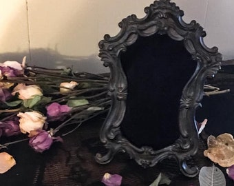 Ornate Vintage Scrying Mirror,  Witch's Mirror, Witch's Glass,Divination Tool,Occult Mirror, Witchcraft Tool, Psychic Clairvoyant