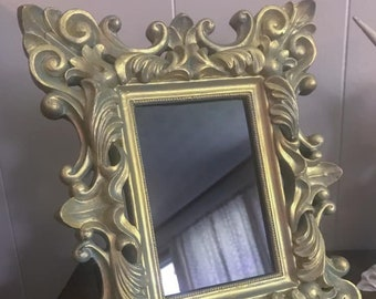 Beautiful Scrollwork Scrying Mirror, Baroque Mirror, Witch's Glass, Divination Tool, Occult Mirror, Witchcraft Tool, Psychic Clairvoyant