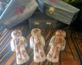 Jack-Be-Nimble Rebirth Transformation Poppets, Nature-crafted Wax Poppet, Hand-crafted Witch Doll, Occult Poppet