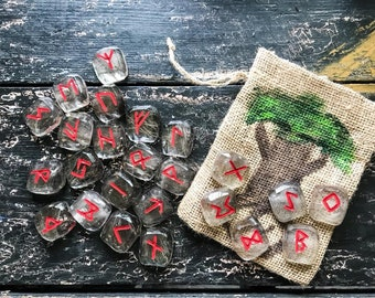 Runes Stones Set, Wolf Hair Elder Futhark Runes, Ulfhednar Rune Set, Viking Divination, Odin Viking Norse Heathen Asatru Divination
