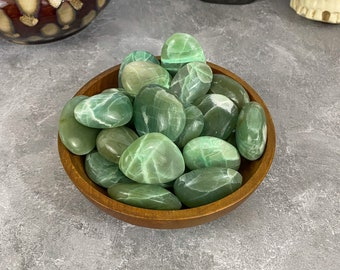Garnierite Palm Stone, Green Moonstone Palm Stone