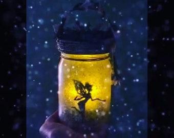 Fairy Jar,Fairy Light, Fairy In a Jar, Birthday Gift, Fairy Garden Light, Wedding Decoration,Baby Shower, Party Decoration, Party Lights