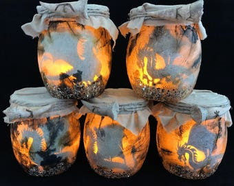 Dragon Jar light, Dragon Light, Dragon Lantern, Pern Night Light,Captured Dragon, Fantasy Jar Lantern,Fairy Tale Magical Legend