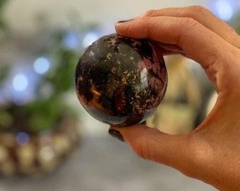 2 sizes Rhodonite spheres
