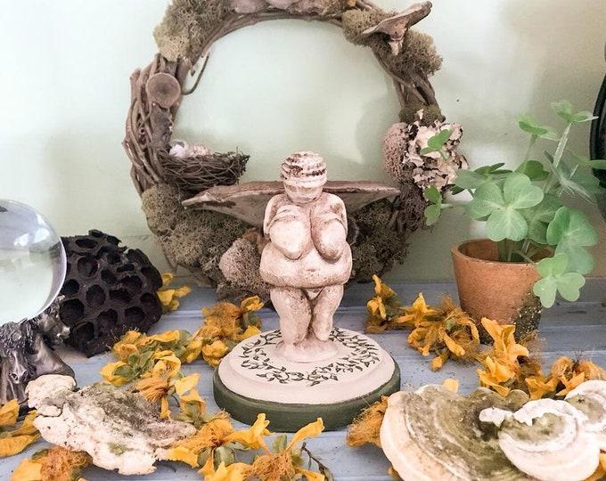 Featured listing image: Altar Goddess Statue, Venus Goddess, Venus of Willendorf Statue, Goddess Art, Goddess Figurine, Witch Decor, Goddess Decor, Pagan Decor