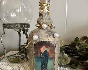 Circe Altar Jar, Mixed Media Art Jar, Altar Decoration, Circe Individiosa, Waterhouse