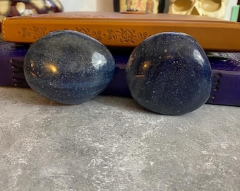 Large Dumortierite Palm Stones