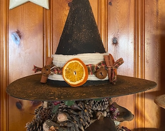 Limited Edition Wassail Witch Hat, Tree Topper, Glittery Witch Hat, Bewitching Handmade Hat, Decorative Witch Hat
