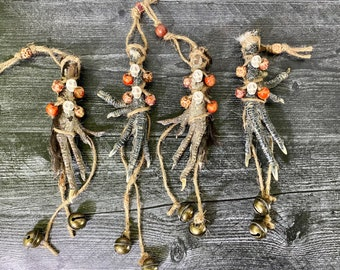 Large Double-Toed Baba Yaga Protective Foot, Silkie Chicken Foot Talisman, Forest Fowl Charm, Protection Talisman
