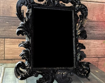Gothic Scrying Mirror, Gorgeous Victorian Art Nouveau Mirror, Peeping Gazing Seeing, Psychic Divination, Occult Witchcraft Clairvoyant Tool