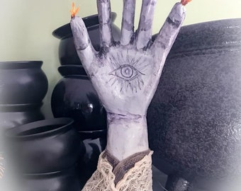 Magical Eye in Hand,Romantic Mystical Decor,Primitive Decorative Magical Hand, Hand of Glory Decoration, Power Hand magical decoration