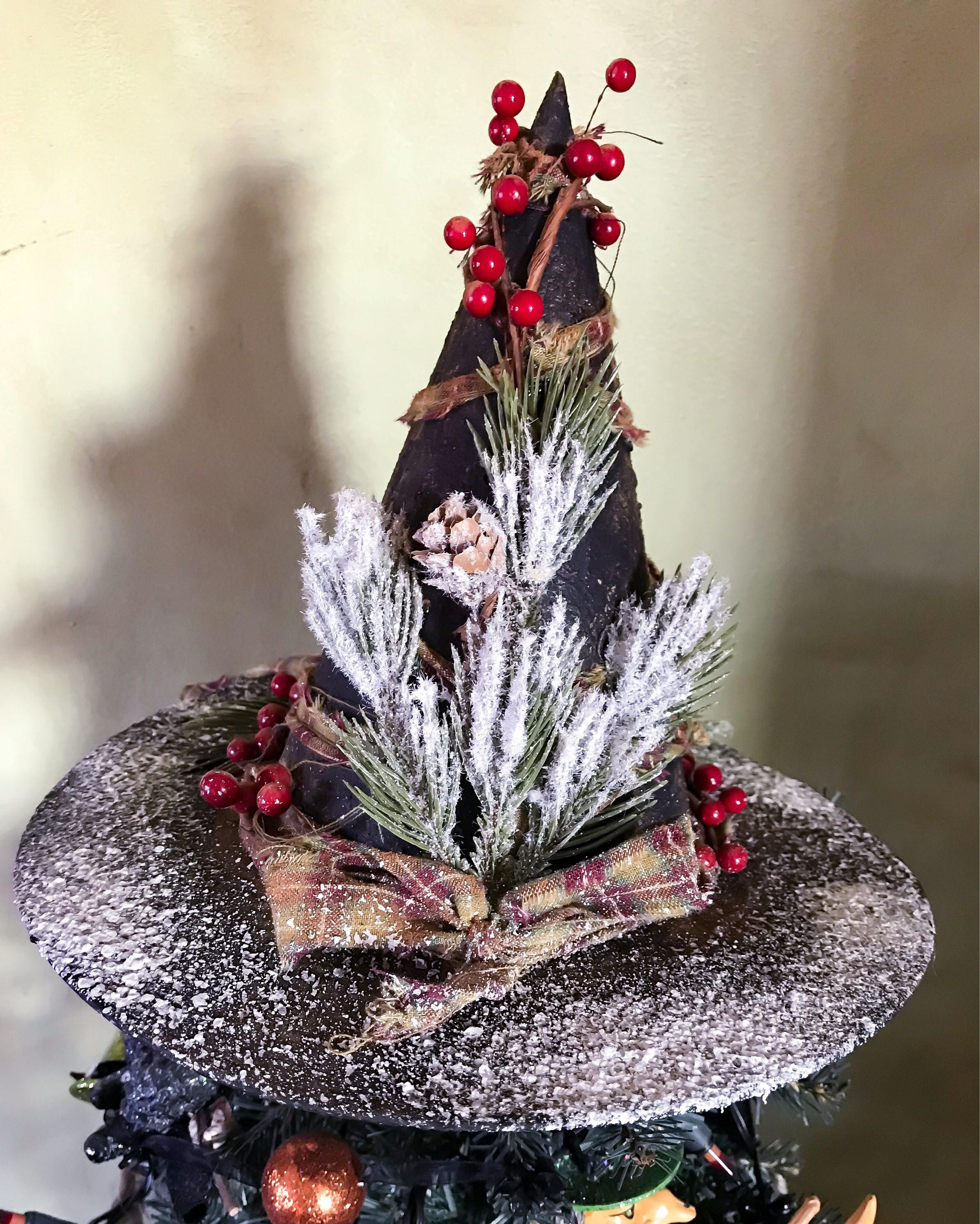 Christmas Tree History Pagan: Primitive Witch Hat Tree Topper, Primitive Christmas Tree