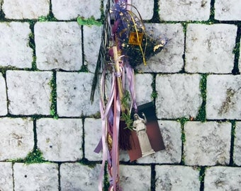 Household Protection Spell Cord, Witch ladder cord for the home