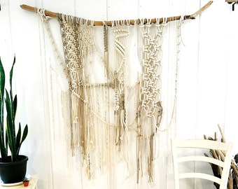 Rocks and Water Macrame Wall Hanging