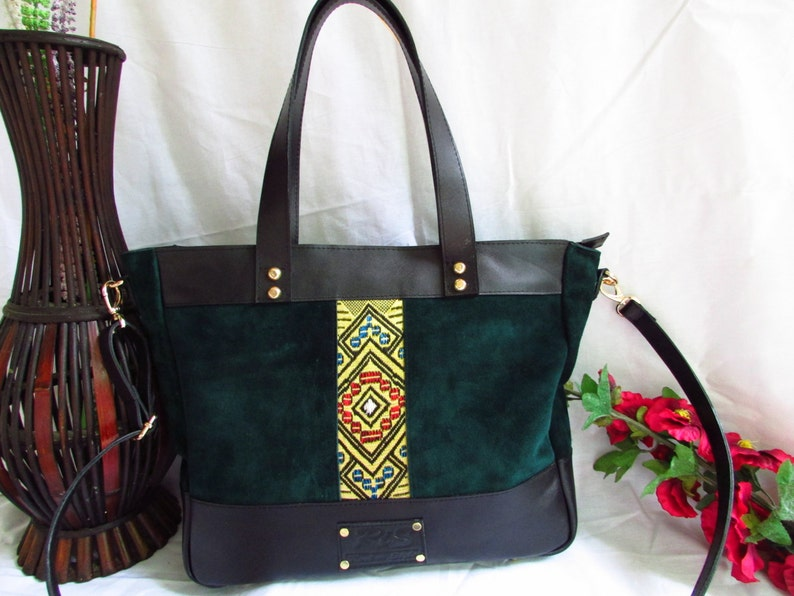 8ac6a90075 Green leather tote large green bag women leather bag women