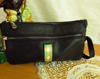 women wallet, Black leather wallet, mini pouches, soft leather Wallet, sheep leather pouches, women clutch