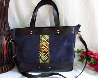 purple leather tote, large shoulder bag, leather large tote, women large tote, women handbag, women leather bag, suede leather tote