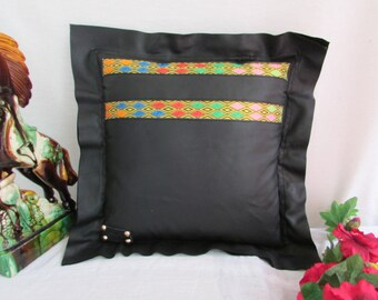 leather pillow case, black pillow cover, couch pillow cover, Pillow covers 40x40, decorative pillow cover, soft pillow cover,