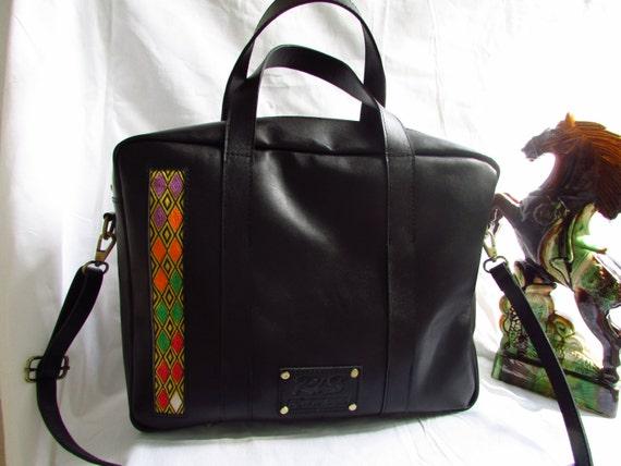 black leather laptop bag Men laptop bag unisex book  2f1c10e9d