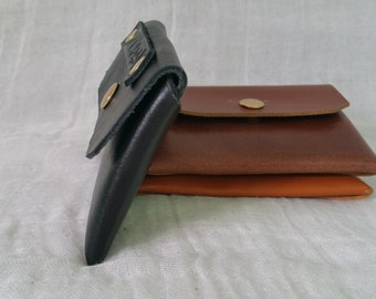 Business card holder, leather card holder, credit card holder, unique gift, ID holder, credit card wallet, custom money clips, ID wallet