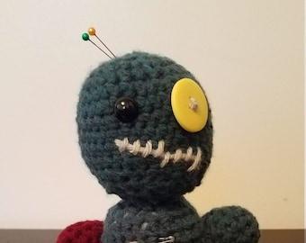Voodoo Doll / Cute Stuffed Animals / Cute Halloween / Crochet Stuffed Animals / Crochet Dolls / Halloween Toys / Crochet Amigurumi