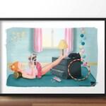 Poster for kid •  Kid's room decoration • Gift for little girl • Christmas • Birthday • Dance • Designer product